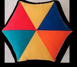 Polštářek-šestiuhelník